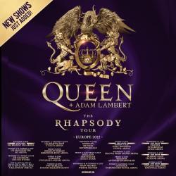 Queen + Adam Lambert Europatour 2022 mit fünf weiteren Terminen