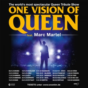 One Vision of Queen feat. Marc Martel - Tourposter