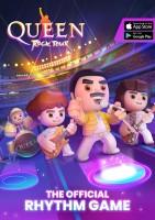 Queen Rock Tour - Poster hoch mit Appstore-Logos
